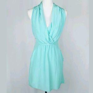 Aritzia Wilfred Sabine Mint Tie Back Silk Dress